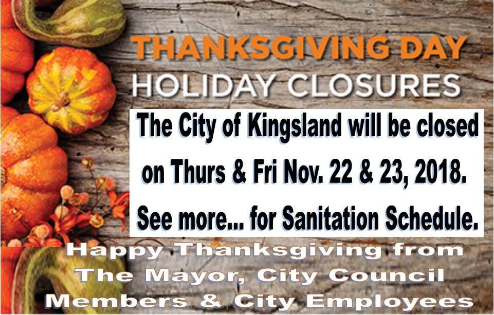 thanksgiving closures 2018