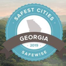 Image of the logo for Georgia's top 50 safest cities for 2019