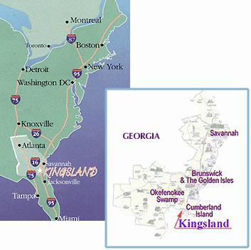 Kingland Area Map