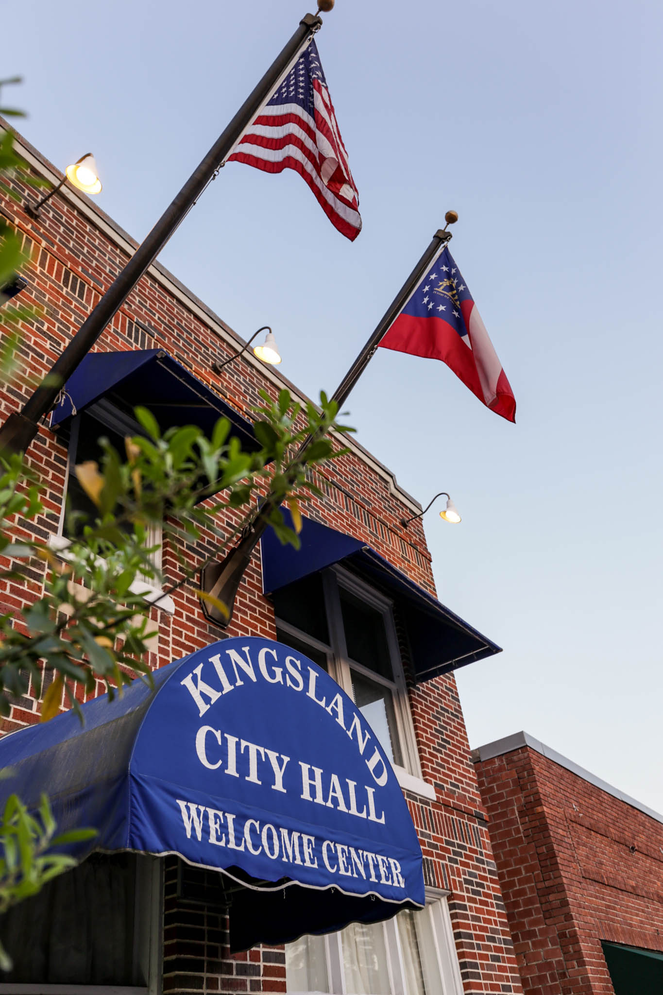 Kingsland City Hall in Historic Downtown Kingsland Georgia
